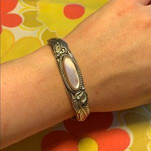 Jewelry - Sterling Navajo Mother of Pearl Cuff